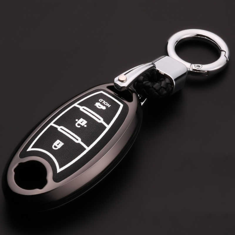 Luminous Leder Auto-Styling Schlüssel Abdeckung Fall Für Nissan X-Trail T32 Qashqai J11 Skyline Kicks Tiida Juke alissa Hinweis Almera Sunny