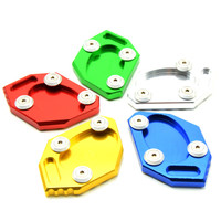 CNC Kickstand Side Stand Extension Pad Plate Motorcycle Side Stand Enlarge For Kawasaki Ninja 650 250