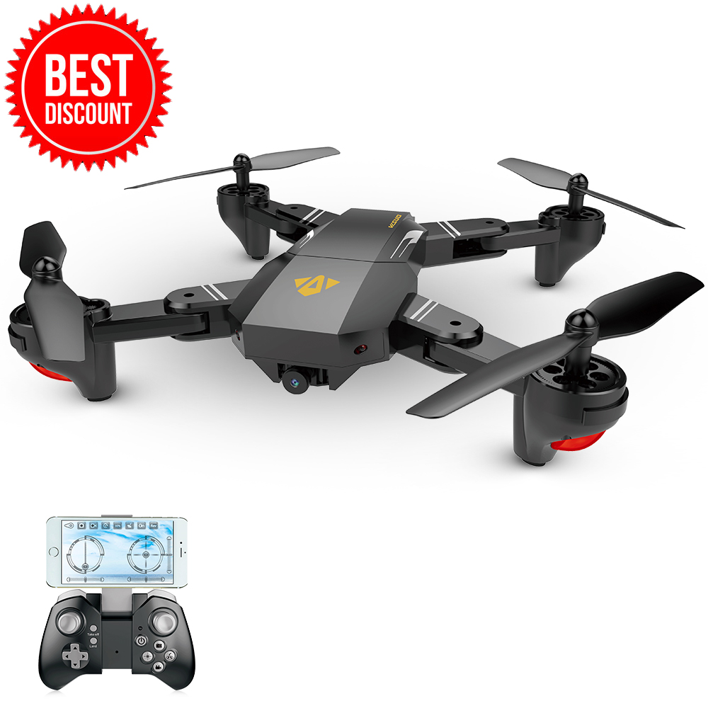 VISUO XS809HW Wifi FPV 2.0MP 720P 120 FOV Wide Angle HD Camera Foldable 2.4G Selfie Drone Height Hold RC Quadcopter G-Sensor RTF все цены