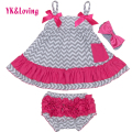 Baby Girl Swing Top Newborn Clothing Set  Dress Sling Bat Shirt Ruffle Bloomers Short  Kids Clothes 2017 NEW Arrival