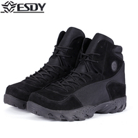 High Quality 2017 Brand Outdoor ESDY Military Level Standards Wool Boots Puncture Proof Tactical Boots Camping