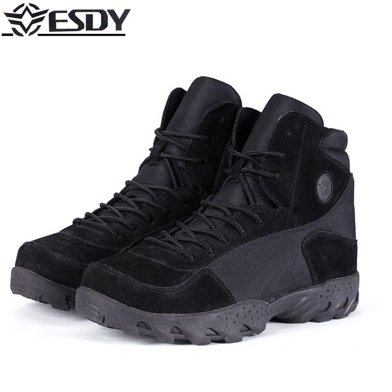 Haute qualité 2019 marque en plein air ESDY niveau militaire normes laine bottes anti-crevaison tactique bottes Camping randonnée chaussures hommes