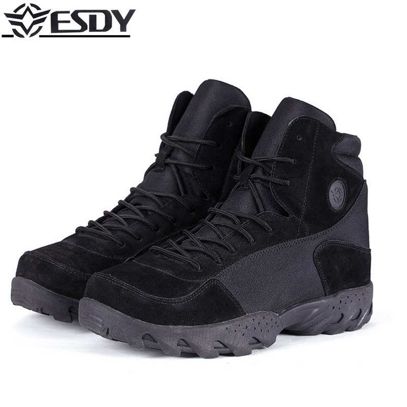 High Quality 2017 Brand Outdoor ESDY Military level standards wool boots puncture-proof Tactical boots Camping Hiking Shoes Men цена