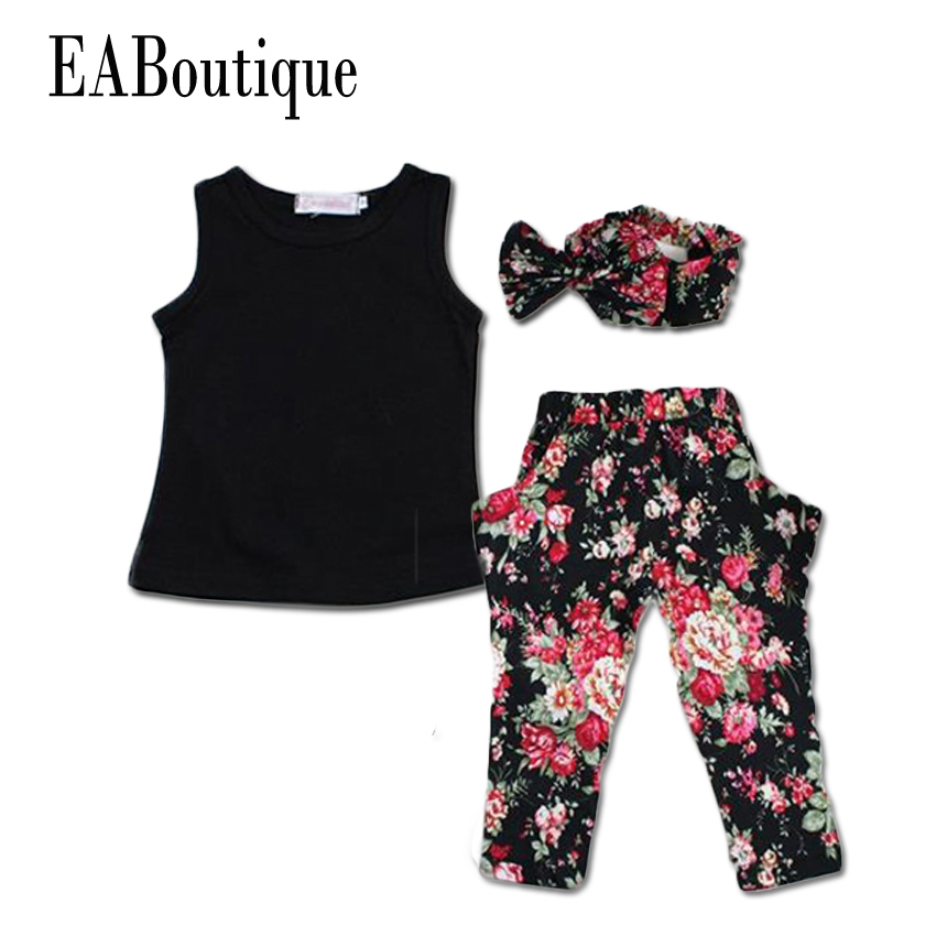 Eaboutique Summer Style Girls Fashion Floral Casual Suit