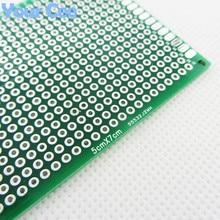 5X7 см 5*7 см двухсторонний Прототип pcb Универсальный макет печатная плата для Arduino 1,6 мм 2,54 мм Стекловолокно