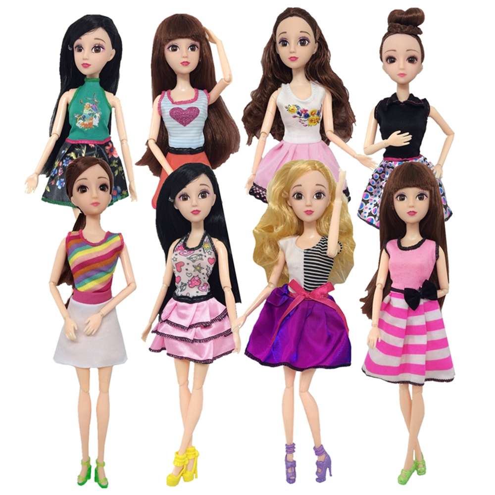 Handmade New Baby Doll Clothes Fashion Princess Girl Doll Dress Evening Party Ball Gown Dress for 29cm 11inch Barbies Doll Suits (18)
