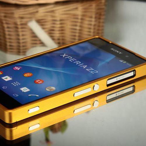 Цена за Роскошные Ультра Тонкий Алюминиевый Бампер Металла для Sony Xperia Z2 Тяни-толкай Телефон Frame Дело Без Каких-либо Винт Дизайн