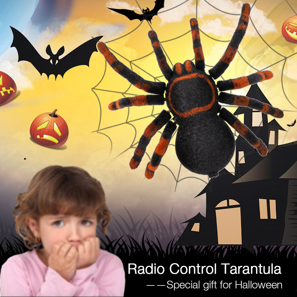radio control rc animals simulation furry tarantula electronic spider toy children kids gift halloween festival surprise toys - Kids Halloween Radio