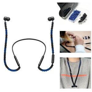 Image 1 - DIY Sacai Perlen Bluetooth Kopfhörer Draht Schutz Zubehör Sacai für BeatsX/Urbeats 3 kopfhörer Modische