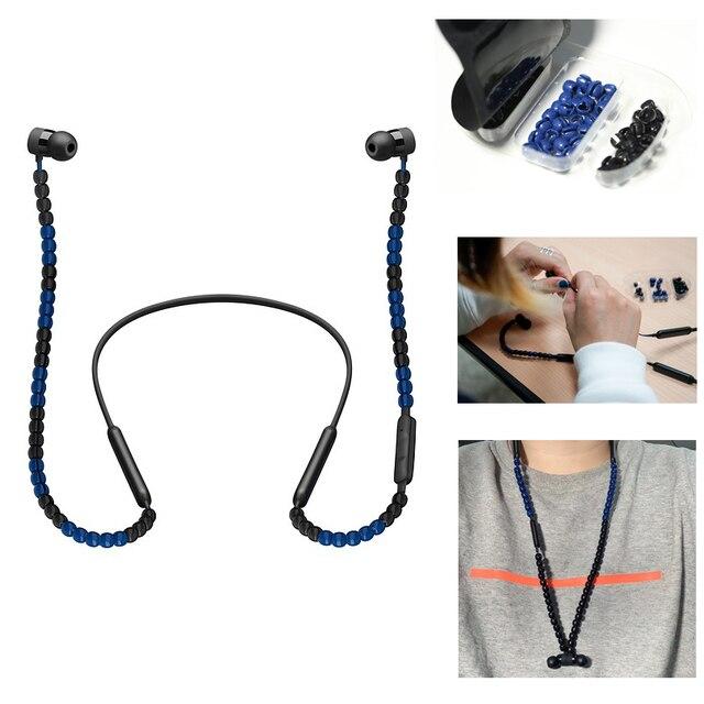 DIY Sacai Perlen Bluetooth Kopfhörer Draht Schutz Zubehör Sacai für BeatsX/Urbeats 3 kopfhörer Modische