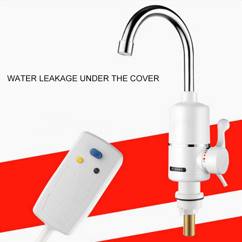 3000w Faucet Instant Hot Water Heater Tap Electrical Fast Instantaneous Thermostat For Water Heater Temperature Display EU Plug