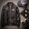 De gran tamaño 5xl 6xl 7xl 8xl Negro Air Vuelo Chaqueta de Bombardero de Los Hombres 2017 nuevos hombres de la moda chaquetas y abrigos grandes del tamaño los hombres clothing 265