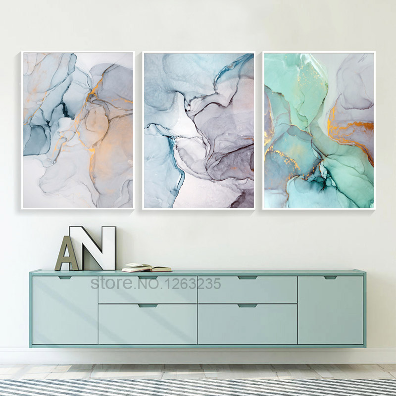 Abstract Green Stone Pattern Nordic Poster Canvas Painting Quadro Wall Pictures Cuadros Decoracion Geometric Home Decor Unframed