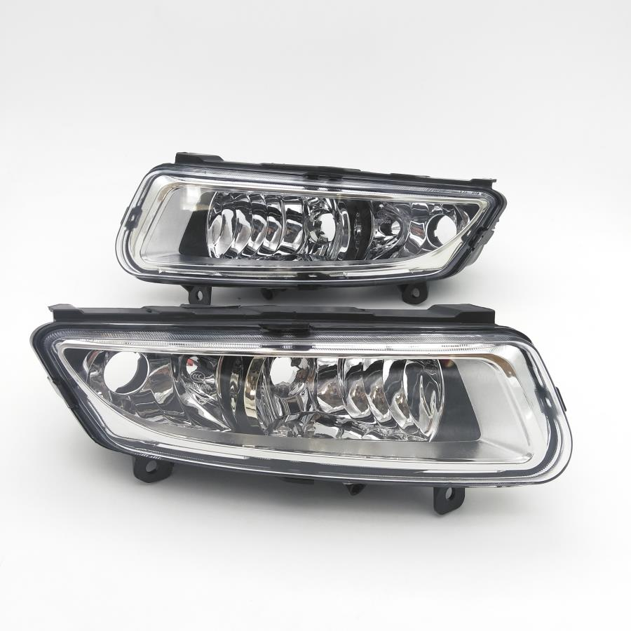 Car Light For VW Polo Vento Derby 2009 2010 2011 2012 2013 2014 Car-Styling Front Left And Right Side Fog Lamp Fog Light car modification lamp fog lamps safety light h11 12v 55w suitable for mitsubishi triton l200 2009 2010 2011 2012 on
