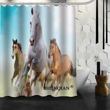 Best Nice Custom Horse Shower Curtain Bath Curtain Waterproof Fabric  Bathroom Curtain MORE SIZE A6.