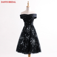 Sexy Short Cocktail Dresses Women Little Black Dresses Graduation Prom Party Coctail Dress Vestido De Festa