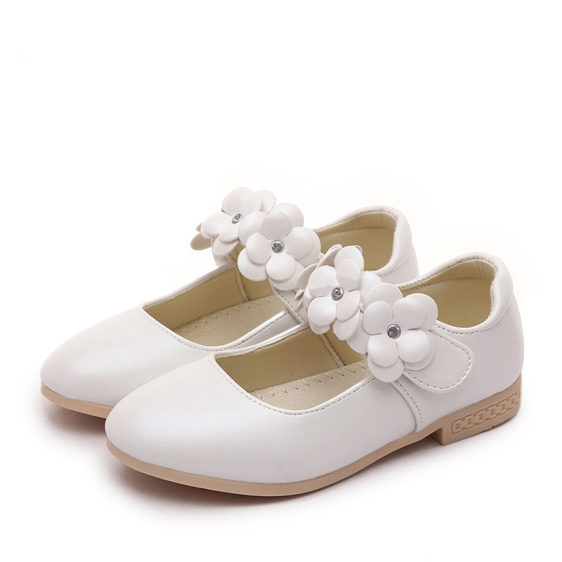 Childrens Baby Girls Buckle Up Shoes Wedding Flower Girl Christening Kids Smart