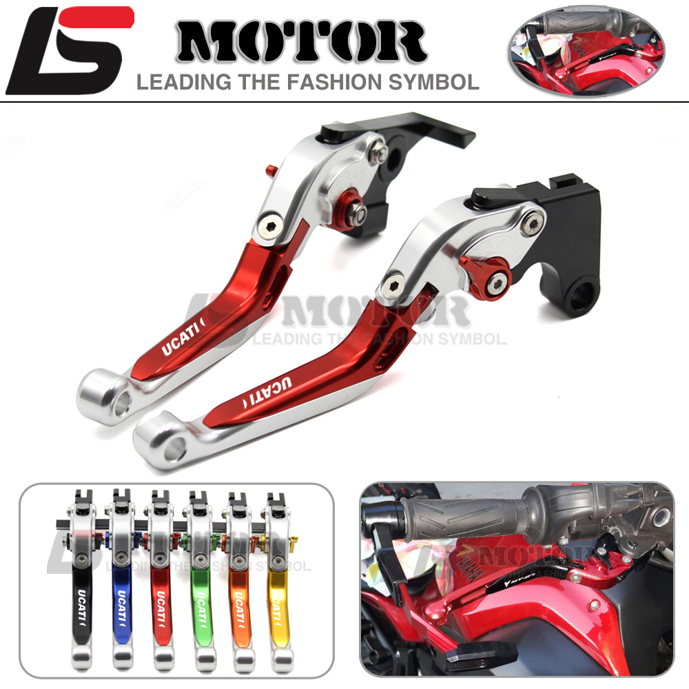 ФОТО For Ducati 400 MONSTER 620 M / 620 MTS 695 S2R 800 ST4S 748  Motorcycle Adjustable Folding Extendable Brake Clutch Levers 6