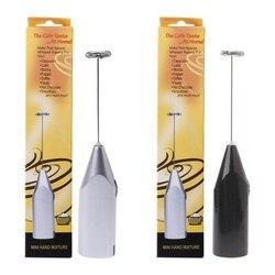 Batedor de espuma de leite handheld a pilhas misturadores de café elétricos batedores de ovos