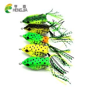 HENGJIA 5pcs 6cm 12g soft plastic frog snakehead salmon fishing lures catfish trout perch fishing baits pesca fishing tackles