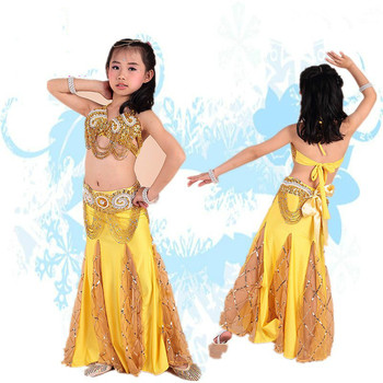 High Quality Girl Belly Dance Suit 2016 New Design 3 Pcs Dance Clothes Stage Performance Clothing Belly Dancing Clothes