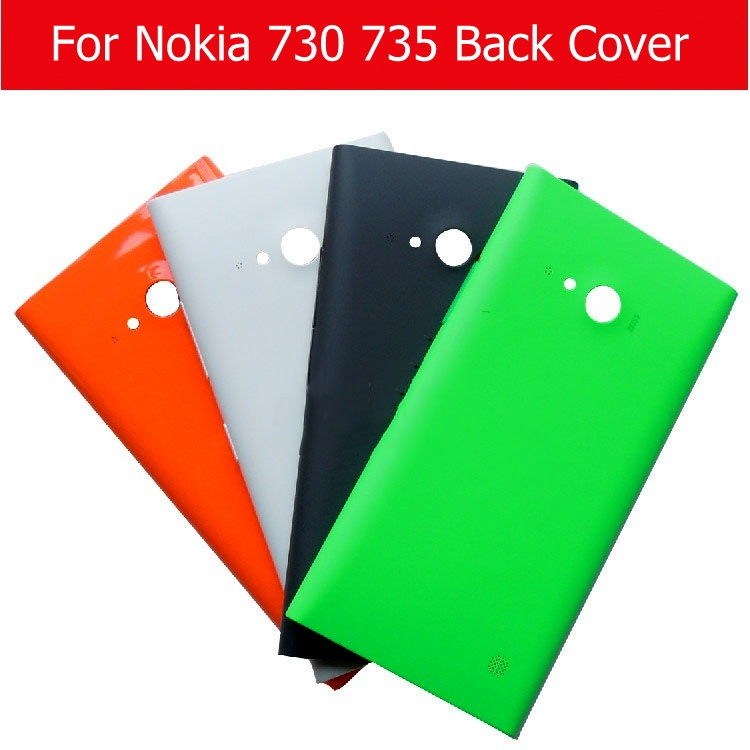 Rear-Cover Housing-Case Battery Lumia Nokia 730 for with No-Logo-Plus 1pcs Film Back