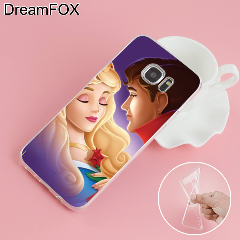 DREAMFOX L352 Sleeping Beauty Soft TPU Silicone Case Cover For Samsung Galaxy Note S 3 4 5 6 7 8 9 Edge Plus Grand Prime