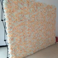 Upscale White Simulation Rose Peony Flower Wall Row 40x60CM Panel for Wedding Backdrop Decoration 20 Colors Available