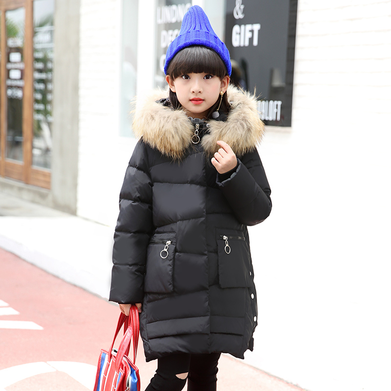 2017 Fashion Girl winter down Jackets Children Coats warm baby thick duck Down Kids Outerwears for cold -30 degree jacket new winter girls boys down jackets baby kids long sections down coats thick duck down warm jacket children outerwears 30degree