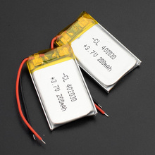 3.7v 200mAh 402030 Polymer lithium battery rechargeable batteries cells For Mp3 MP4 GPS DV