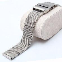 Nueva llegada de la alta calidad 20 mm 22 mm correa de acero inoxidable de malla gruesa para relojes de cuarzo pulseras para horas reloj promoción