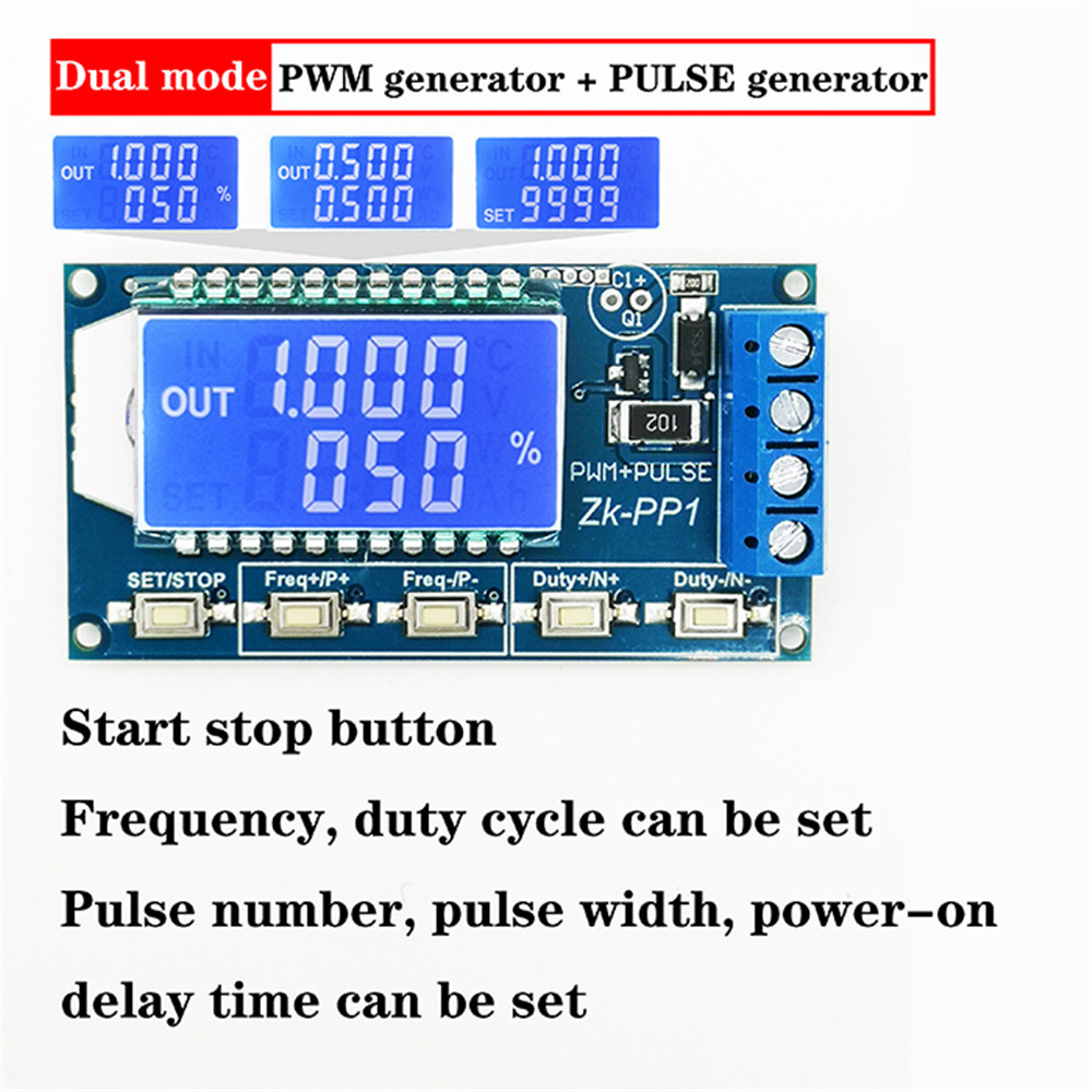 *Signal Generator Module Adjustable PWM Pulse Frequency Duty Cycle Square Wave*