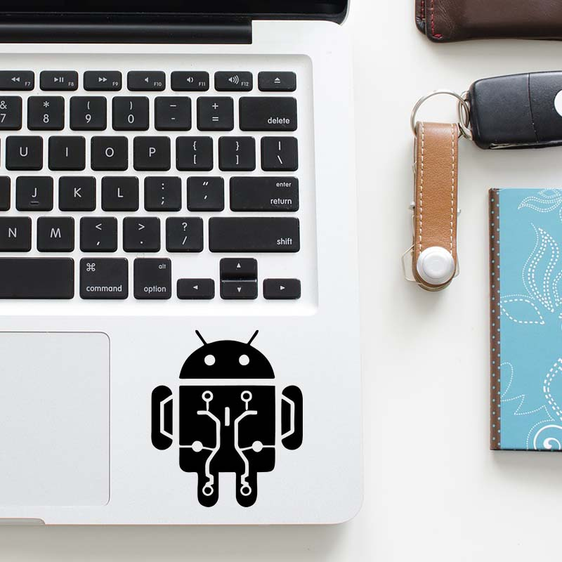Android Robot Laptop Decal Trackpad Sticker for font b Apple b font font b Macbook b
