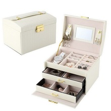 цены leather Jewelry Storage Box Rings Earrings Organizer Box Necklaces Makeup watch Holder Case