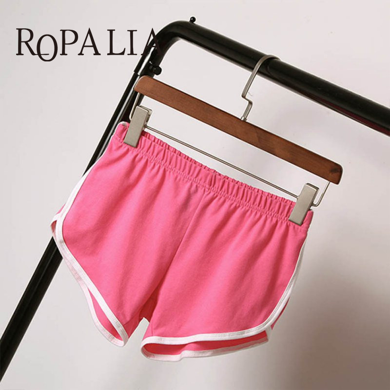 Summer   Shorts   Women   Shorts   Workout Waistband Skinny   Short
