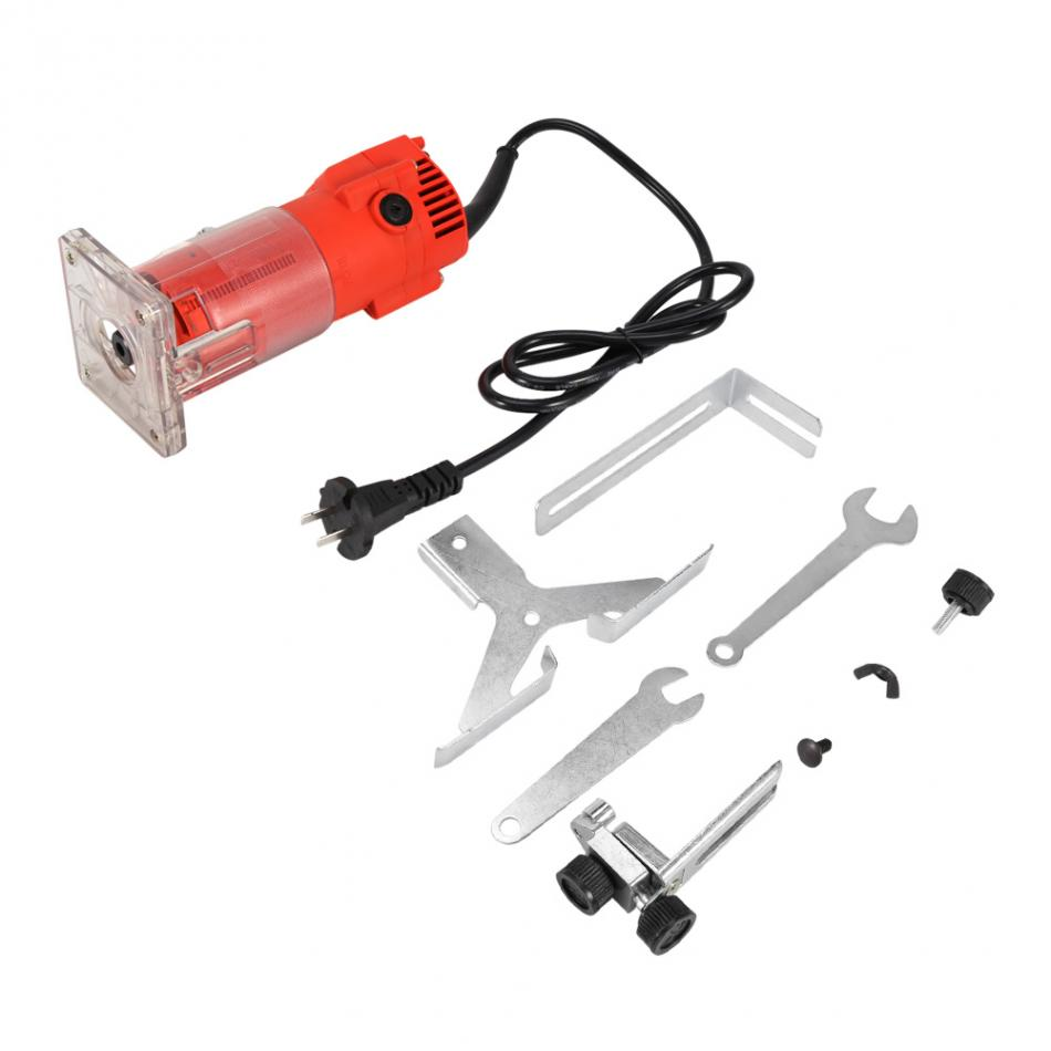 30000 RPM Red Electric Wood Trim Router Machine Clean Cuts Woodworking Tool Set 220V 300W 3 3 300 30000