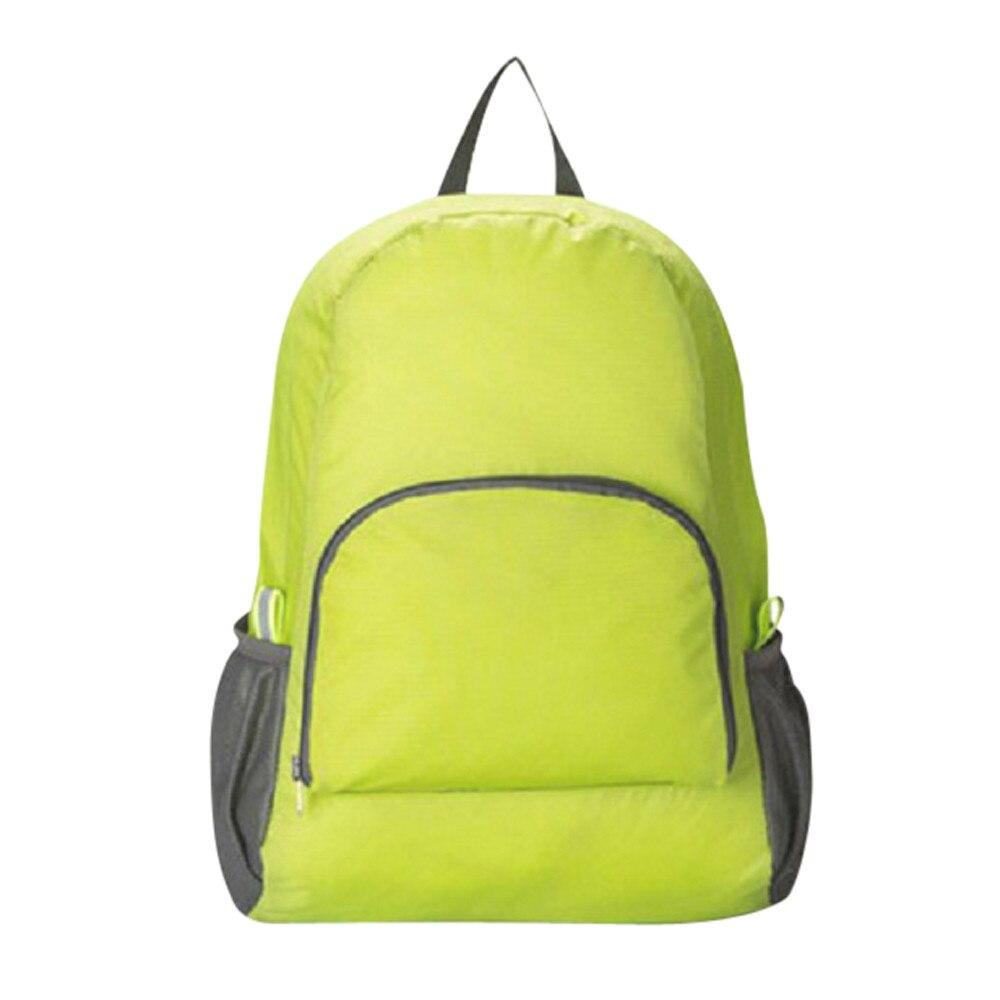 Рюкзак женский модные однотонные Водонепроницаемый нейлоновая сумка складная Портативный путешествия рюкзак Mochila Для мужчин Для женщин рю...