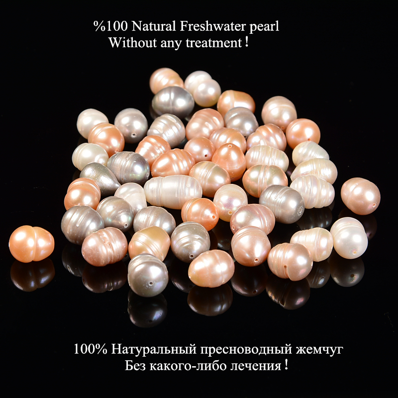 pearl in beads for jewelry DIY making Freshwater pearl 5 6 10mm Oval Seed Loose beads 100 loose Natural pearl 38cm15inch strand in Beads from Jewelry Accessories
