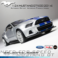Maisto Slot Car 1/24 Ford 2014 Mustang GT500 Carro with Display case for brinquedo menino