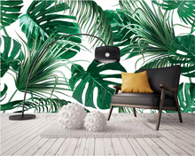 beibehang Custom size Modern minimalist fresh rainforest plant banana leaf garden wallpaper background wall papers home decor