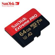 Sandisk extreme pro micro cartão sd 32 gb 64 gb 128 gb a2 u3 v30 class10 tf cartão máximo 170 mb/s cartão de memória flash microsd carte micro sd