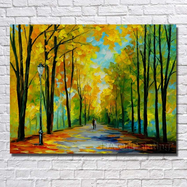 Hand Paint Pathway Picture In The Forest Way Nature