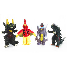 13cm Galaxy soft glue monster toys superman childrens toy dolls such as black king robelag 18 Ultraman series Movable joints