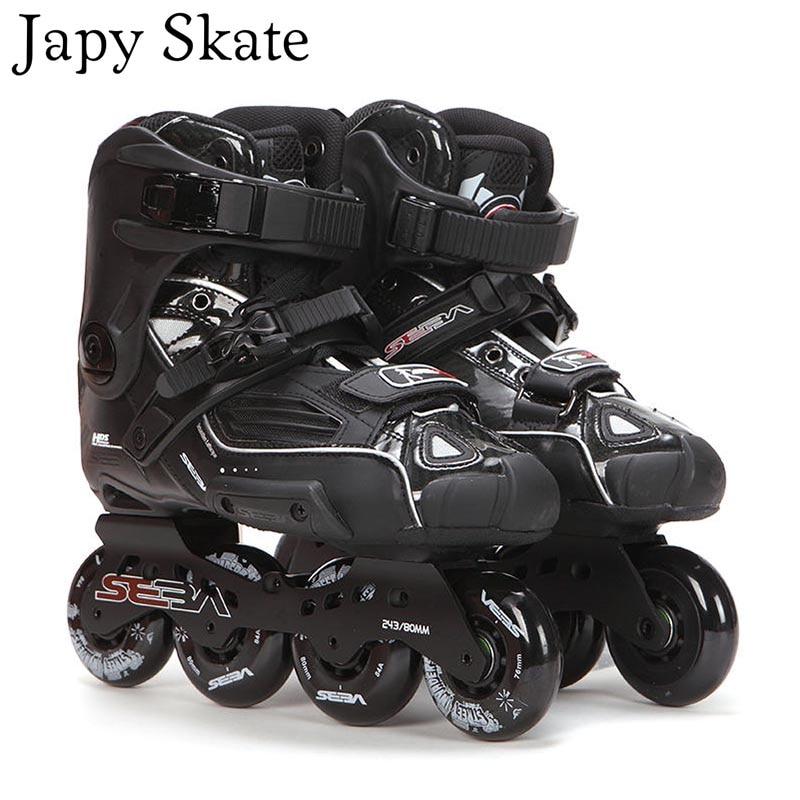 Japy Skate 100 Original SEBA High Deluxe HD Adult Inline Skates Black Roller Skating Shoes Slalom
