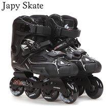 0afe8ca7f56b08 Japy ролик 100% оригинал SEBA высокий Делюкс HD взрослых роликовые коньки  Черный обувь для роликов, скейтборда слалом слайд FSK .