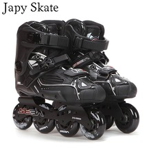 Japyスケート 100% オリジナルセバ高デラックスhd大人のインラインスケート黒ローラースケート靴スライドfsk patines adulto