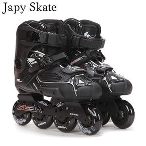 Image 1 - Japy Skate 100% Original SEBA Hohe Deluxe HD Erwachsenen Inline Skates Schwarz Roller Skating Schuhe Slalom Slide FSK Patines Adulto