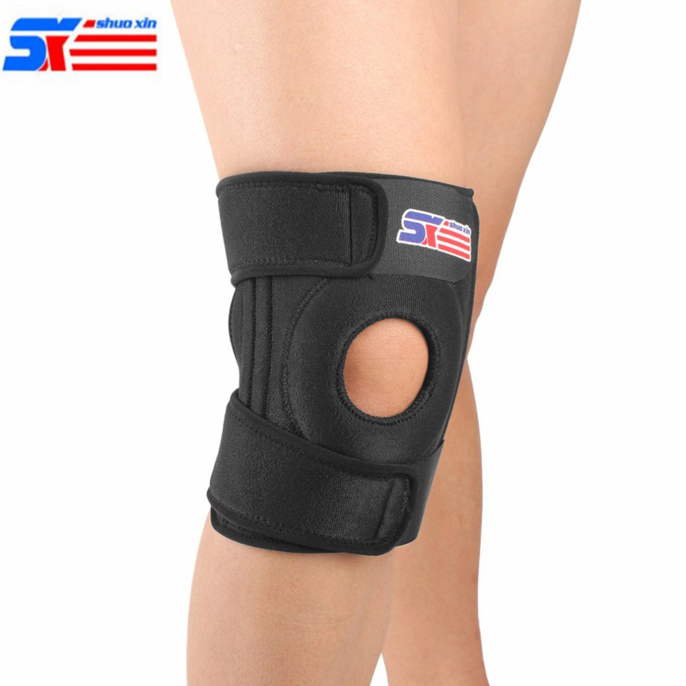 4 Springs Elastic Knee Support Brace Kneepad Adjustable Patella Knee Pads Safety Guard Strap For Basketball Running Free Size