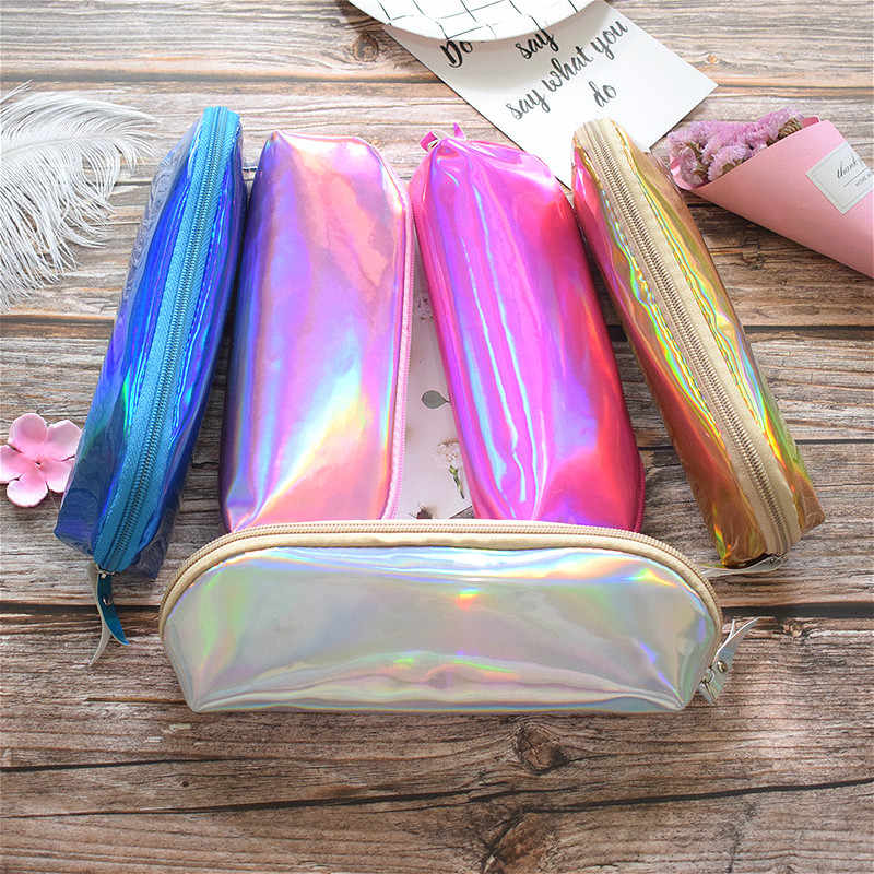 Laser Gorgeous Pencil Case For Girls School Supplies Super Big School Stationery Gift Magic Pencil Box Pencilcase