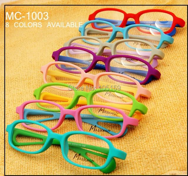 MC-1003 TR90 Memory Bendable Kids Glasses Optical Frame Children Double Color Sports Style Girls/Boys Kids Glasses Frames